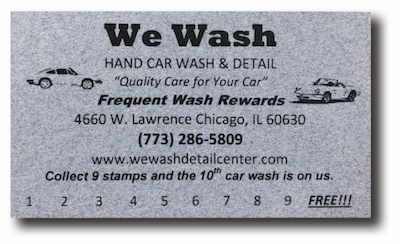 Get frequent wash rewards at We Wash Detail Center for Car washes
